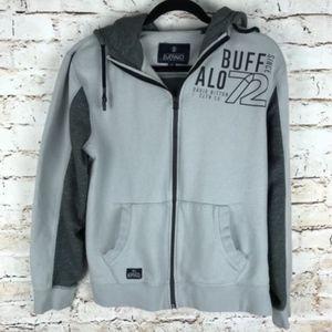 Buffalo David Bitton Gray Zip Up Hoodie Size Med